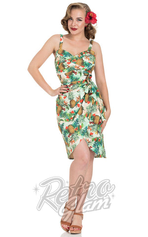 Voodoo Vixen Peggy Tropical Cherry Dress front