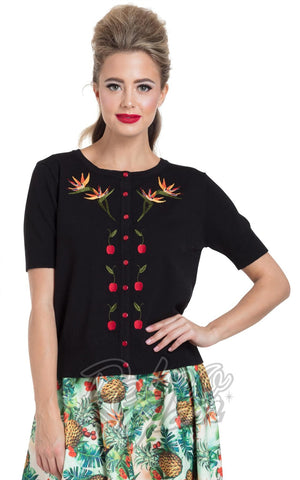 Voodoo Vixen Polly Bird of Paradise Cardigan