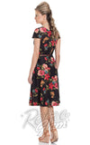 Voodoo Vixen Sophia Floral Wrap Dress back