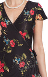 Voodoo Vixen Sophia Floral Wrap Dress detail