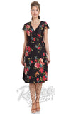 Voodoo Vixen Sophia Floral Wrap Dress front