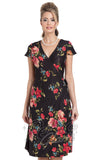Voodoo Vixen Sophia Floral Wrap Dress front cropped