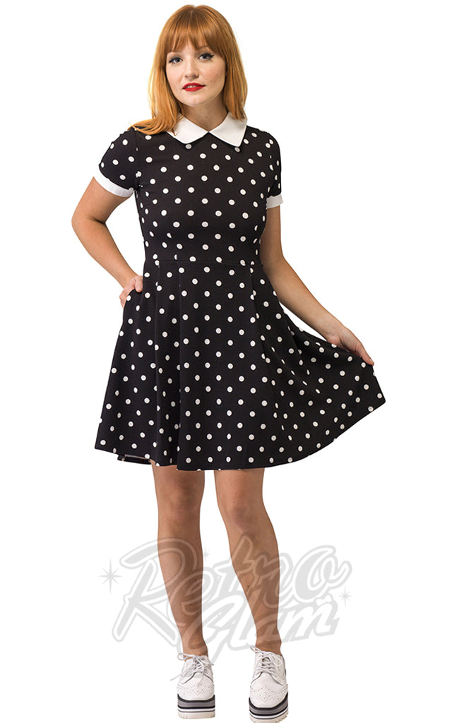 Smak Parlour Babe Revolution Dress in Black & White Polka Dots
