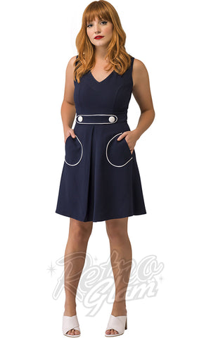 Smak Parlour For Keeps Dress in Navy