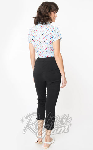 Smak Parlour Smarty Pants Capri Pants in Black back