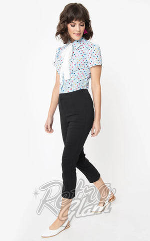 Smak Parlour Smarty Pants Capri Pants in Black
