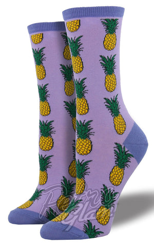 Pineapple Socks in Lavendar