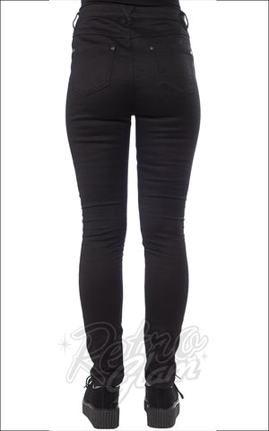 Sourpuss 5 Pocket Stretch Pants in Black back