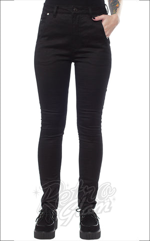 Sourpuss 5 Pocket Stretch Pants in Black