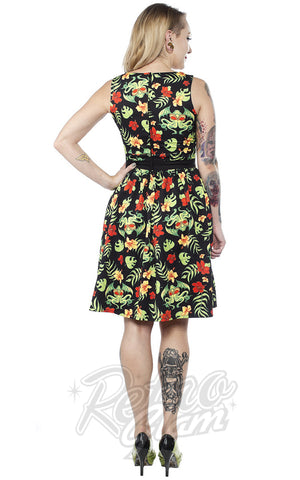 Sourpuss Tropicthulhu Shift Dress back