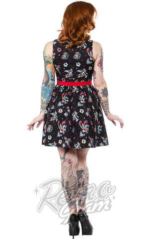 Sourpuss Birds of Paradise Shift Dress Back