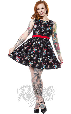 Sourpuss Birds of Paradise Shift Dress