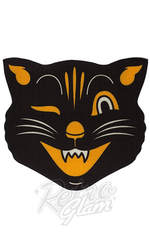 Sourpuss Black Cat Rug