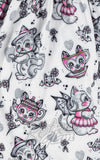 Sourpuss Kittens Creep Heart Lydia Dress fabric