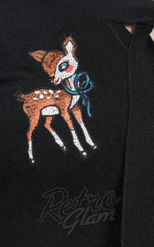 Sourpuss Deer Me Cardigan detail