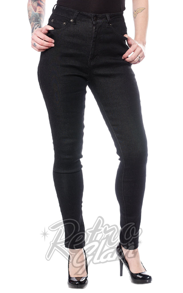 Sourpuss 5 Pocket Stretch Jeans in Black