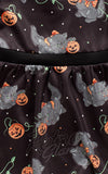 Sourpuss Feline Spooky Kids Dress fabric