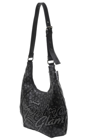 Sourpuss Lust for Skulls Hobo Purse Side