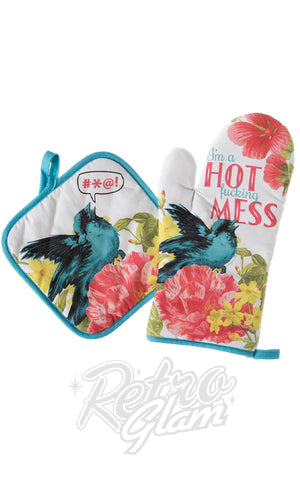 Sourpuss Hot Mess Oven Mitt Set