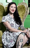 Sourpuss Creep Heart Lydia Dress model