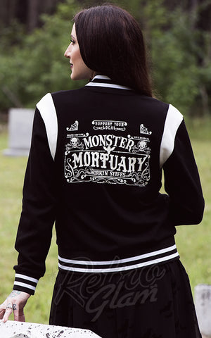Sourpuss Monster Mortuary Varsity Jacket back