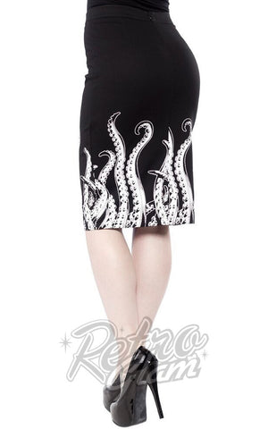 Sourpuss Tentacles Pencil Skirt Side