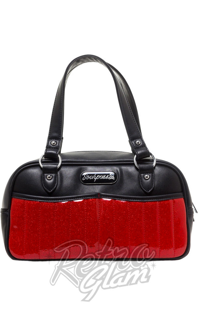Sourpuss Sabrina Purse in Red and Black