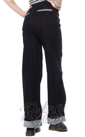 Sourpuss Sailor Pants in Black Back