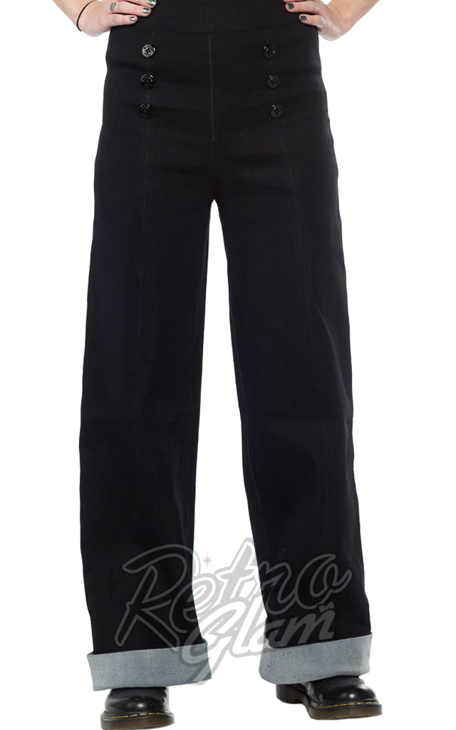 Sourpuss Sailor Pants in Black