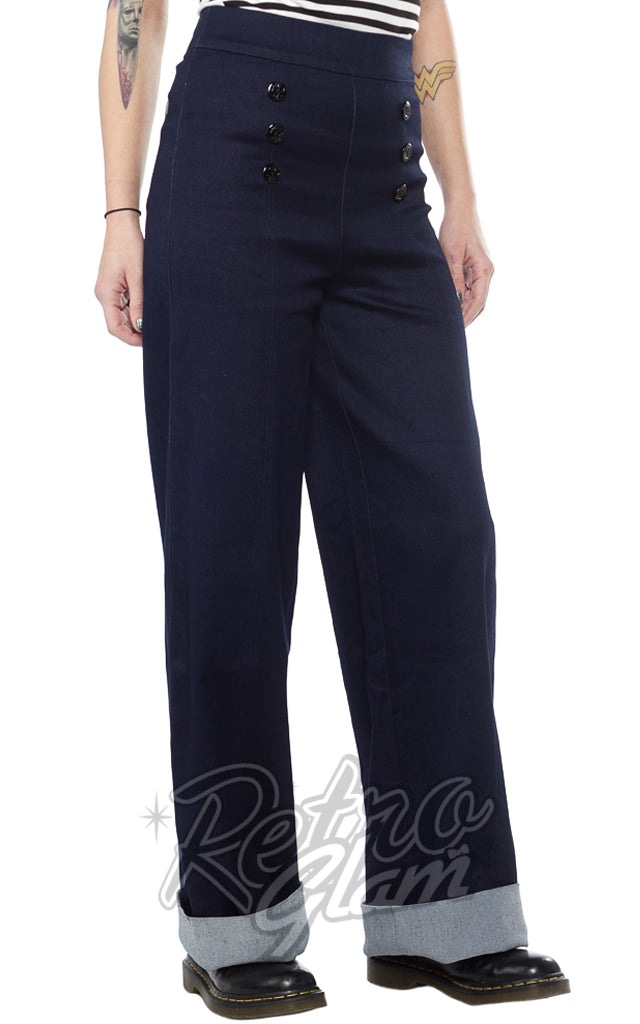 Sourpuss Sailor Pants in Blue