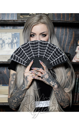 Sourpuss Fans in Spiderwebs Pinup