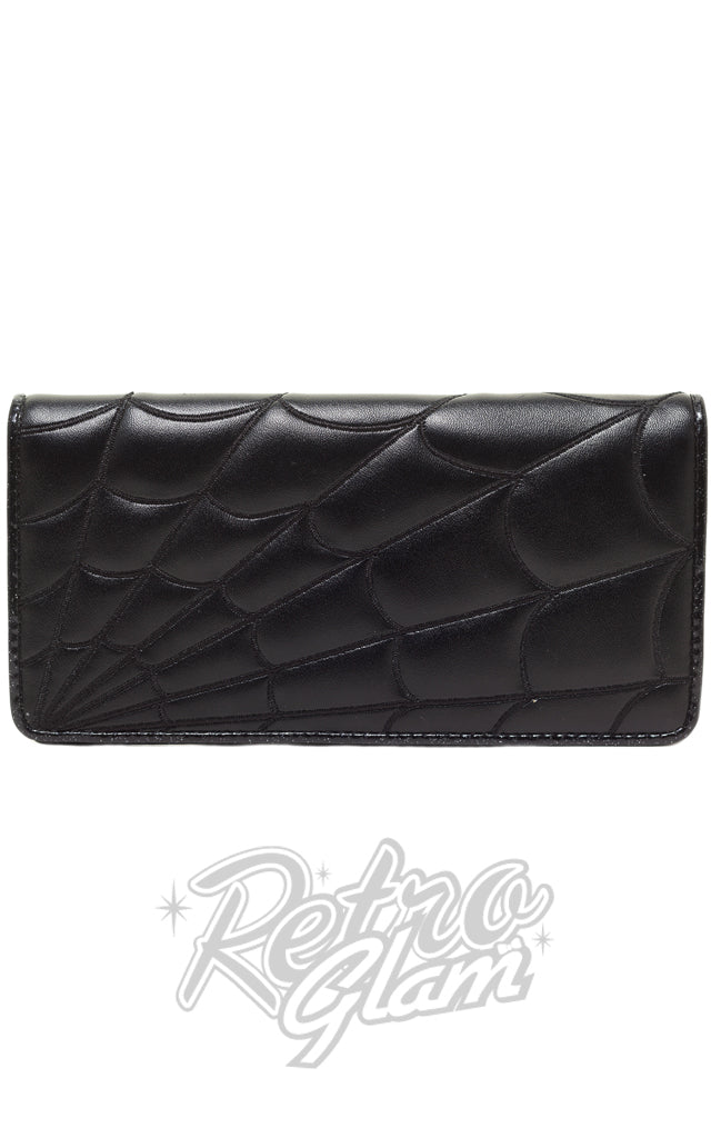 Sourpuss Spiderweb Wallet in Black