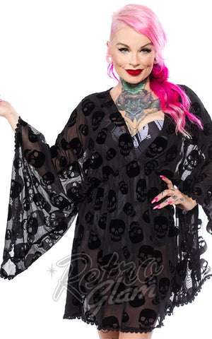 Sourpuss Lust for Skulls Swimsuit Cover Up