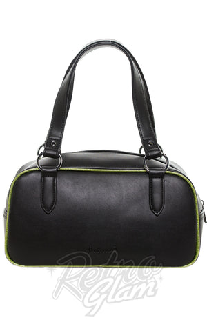 Sourpuss Jinx Tessa Purse in Black & Green back