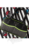 Sourpuss Jinx Tessa Purse in Black & Green psychobilly
