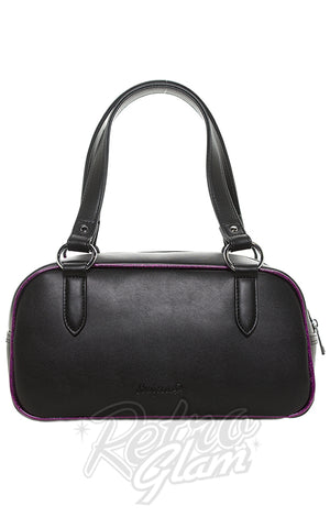 Sourpuss Jinx Tessa Purse in Black & Purple back