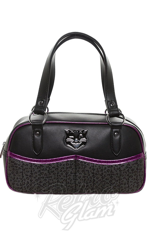 Sourpuss Jinx Tessa Purse in Black & Purple