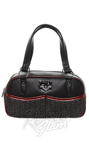 Sourpuss Jinx Tessa Purse in Black & Red
