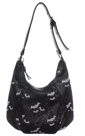 Sourpuss Triple Bats Hobo Purse back