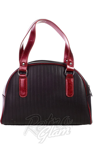 Sourpuss Jinx Tuck and Roll Purse in Black & Red back