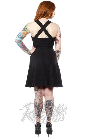 Sourpuss Veronica Dress in Black Back