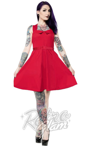 Sourpuss Veronica Dress in Red