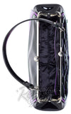 Sourpuss Backseat Baby Spiderweb Purse in Black & Purple inside