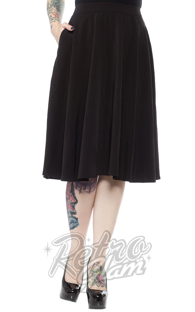 Sourpuss Circle Skirt in Black
