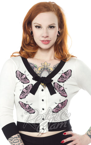 Sourpuss Death Moth Cropped Cardigan