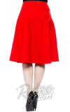 Sourpuss Donna retro swing Skirt in Red back