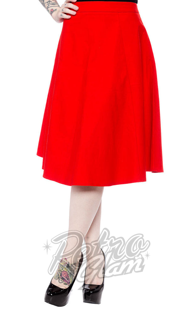 Sourpuss Donna Skirt in Red