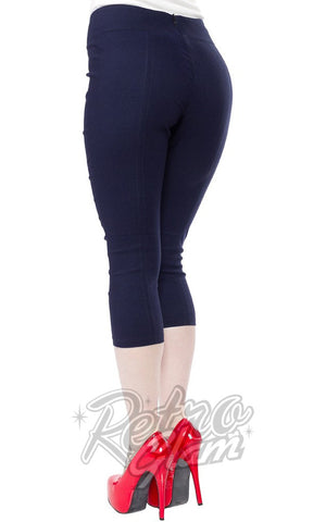 Sourpuss Sugar Pie Faux Denim Capris Back
