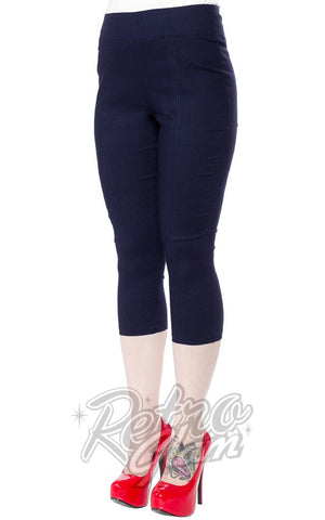 Sourpuss Sugar Pie Faux Denim Capris