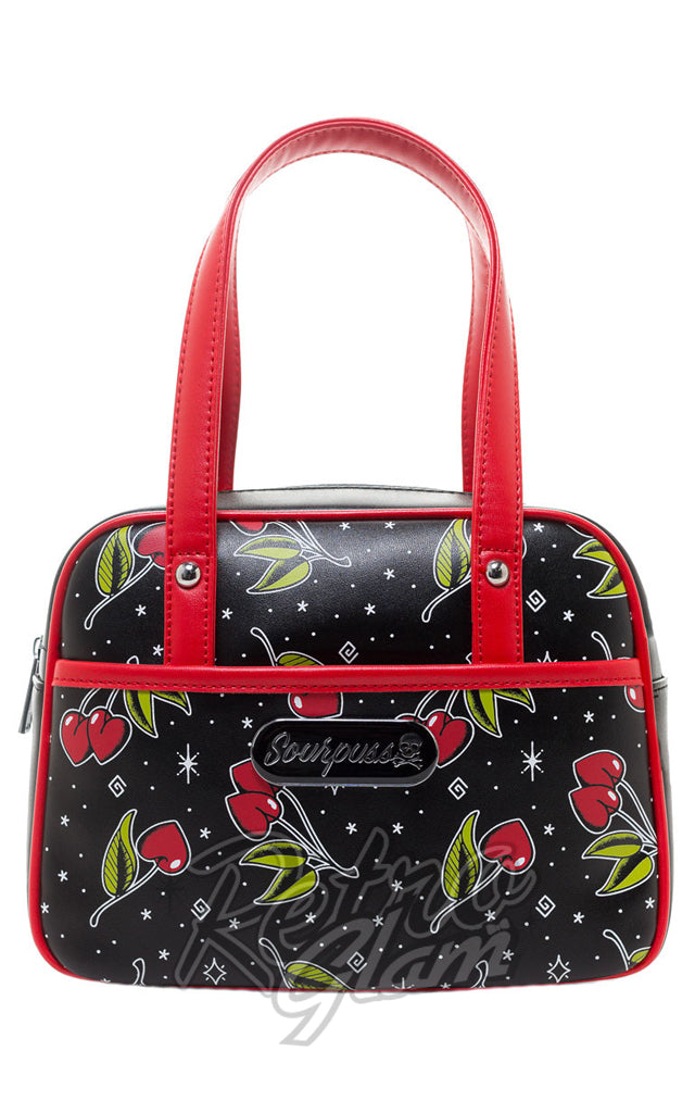 Sourpuss Love Cherries Mini Bowler Purse